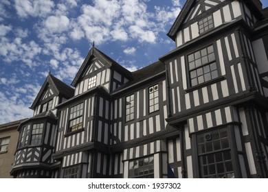 A tudor style building in Shrewsbury, England