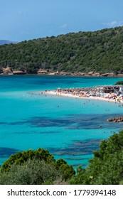 Tuerredda beach in Teulada, Sardinia