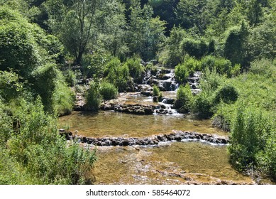 Tufa Cascades On Panjica River Near Arilje, Western Serbia