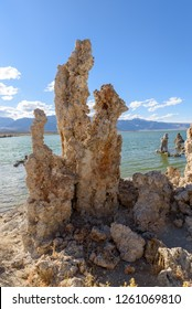 Tufas at Mono Lake in California during Sunset