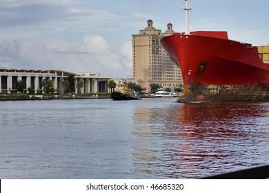 tug boat on the Savannah river, Savannah Georgia