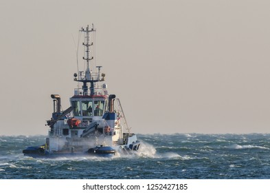 TUG BOAT - Ship on the storm sea