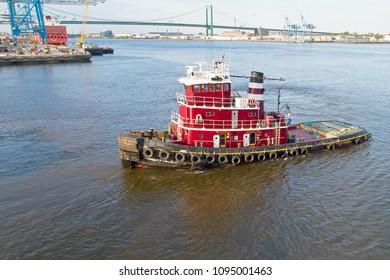 Tugboat on Delaware River