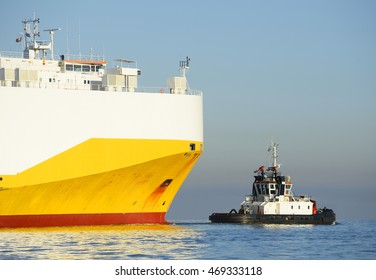 Tugboat and ship