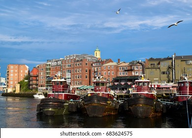 Tugboats in Portsmouth, New Hampshire