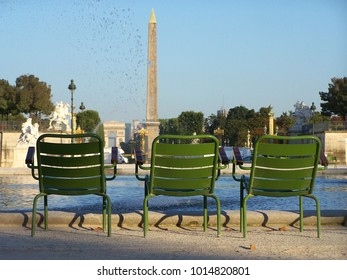 The Tuileries Garden early in the morning in Paris - France