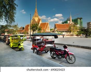 Tuk Tuk Taxi. Cambodia.