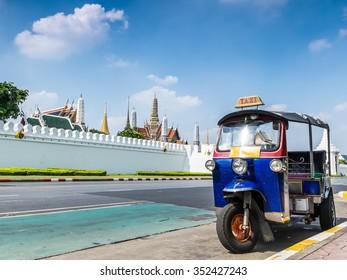 Tuk-Tuk, Thai traditional taxi in Bangkok Thailand (Tuk-Tuk is the name of Thailand style taxi. You can see many Tuk-Tuk at Bangkok, Thailand)
