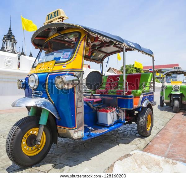 Tuk-Tuk  vehicle urban in Bangkok