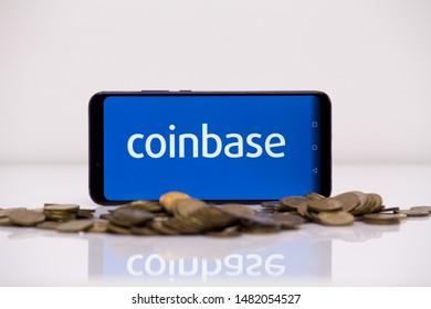 Tula 2.08.2019 Coinbase on the phone display.