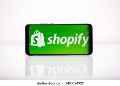 Tula 2.08.2019 Shopify on the phone display.