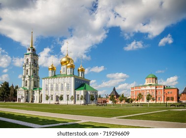 Tula city, Russia. The Assumption and Epiphany Cathedral of the Tula Kremlin. 2017