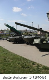 TULA - MAY 1, 2019:  Military equipment in Tula at the Museum
