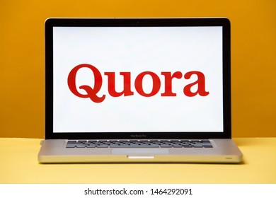 Tula, Russia 17. 06 2019 Quora on the laptop display.