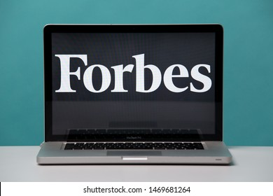 Tula, Russia 17. 06 2019 Forbes on the laptop display.