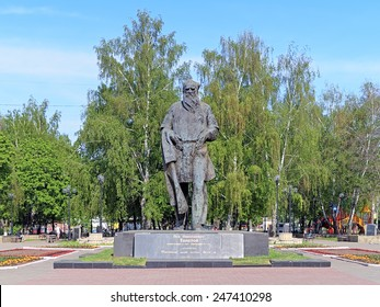 TULA, RUSSIA - MAY 9, 2012: Monument of russian writer Lev Tolstoy. The monument by sculptor Vyacheslav Buyakin was unveiled on September 9, 1973 to commemorate the 145th anniversary of Lev Tolstoy.