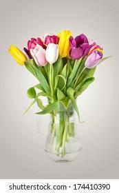 Tulips Spring Flowers in Vase