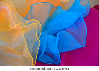 Tulle fabric background