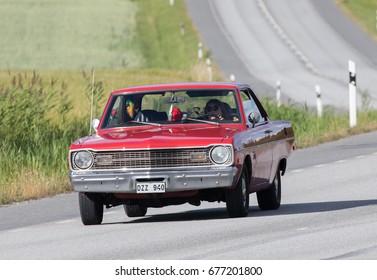 TULLGARN SWEDEN July 13, 2017.  Dodge Dart Swinger, year 1973.