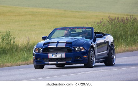 TULLGARN SWEDEN July 13, 2017. Ford Mustang GT, year 2013.