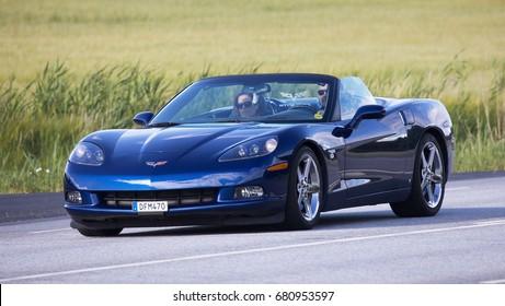 TULLGARN SWEDEN July 13, 2017. Chevrolet Corvette year 2007.