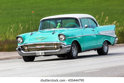 TULLGARN SWEDEN June 9, 2016. CHEVROLET BEL AIR 1957.