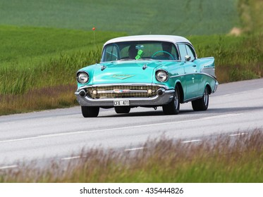 TULLGARN SWEDEN June 9, 2016. CHEVROLET BEL AIR 1957.