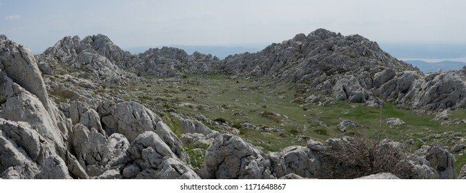 Tulove grede are extraordinary karst phenomena within the Southern Velebit Mountain, Croatia. They are among highest natural rock pillars. Site of Winnetou filming.