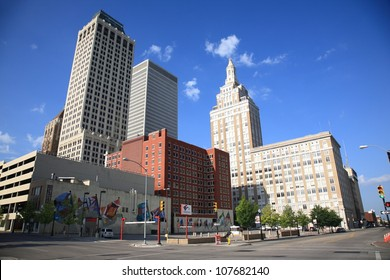 TULSA, OKLAHOMA - JUNE 23: Skyline and Art Deco buildings on June 23, 2012 in Tulsa, Oklahoma. Tulsa is the second-largest city in the state of Oklahoma and 45th-largest city in the United States.