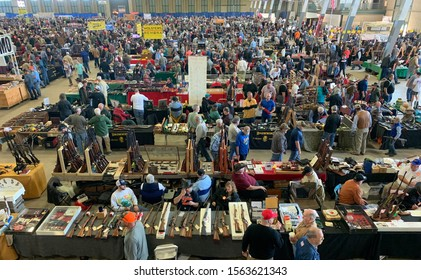 Tulsa, Oklahoma - November 9, 2019: Gun show where people can buy and sell guns and related items. Editorial.