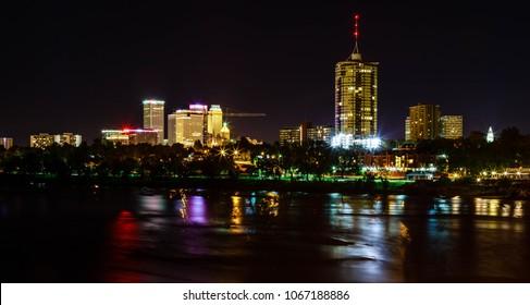 Tulsa Skyline at Night