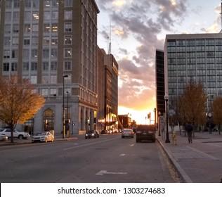 Tulsa Sunset Cityscape