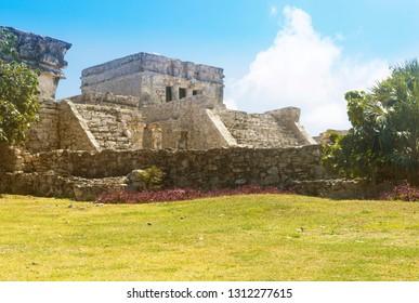 Tulum Maya ruins temple, Mexico