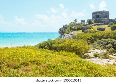 Tulum mayan ruins, Mexico, near caribbean sea