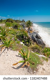 Tulum, Mexico, 09-June-2018. Tulum is the site of a pre-Columbian Mayan city serving as a major port for Coba, Mexico