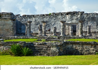Tulum pre-Columbian Mayan archaeological site in Quintana Roo state of Yucatan penincual in Mexico, Central America - Shutterstock ID 1839496915