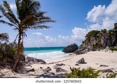 Tulum ruins & beach in Mexico