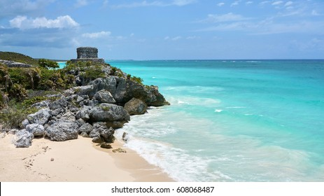 Tulum s the site of a pre-Columbian Mayan walled city serving as a major port for Coba..