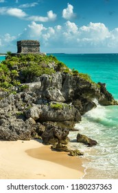 Tulum is the site of a pre-Columbian Mayan city serving as a major port for Coba, Mexico