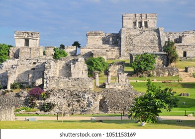 Tulum, the site of a pre-Columbian Mayan walled city serving as a major port for Coba, in the Mexican state of Quintana Roo.