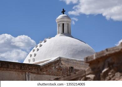 Tumacocori Mission built in the 1700s at Tubac Arizona