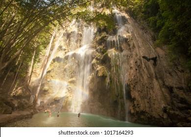 Tumalog waterfall on Sebu island, Philippines