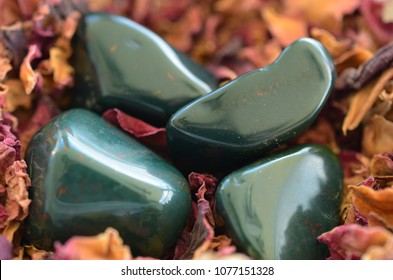 Tumbled Bloodstone, Premium Quality Polished Bloodstone great for wealth, abundance, and prosperity.