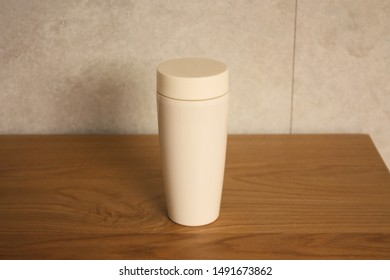 Tumbler on the wood table