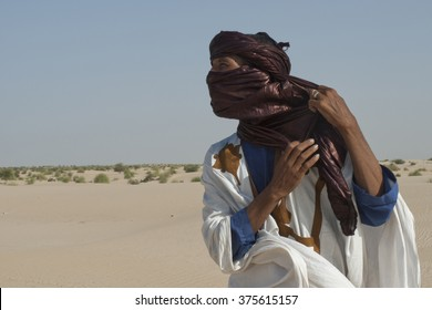 Tumbuctu,Mali- Sept.2,2011: Tuareg in the desert of Mali