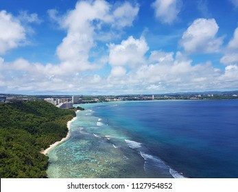 Tumon Bay, Guam, USA. The view from Two Lover's Point.