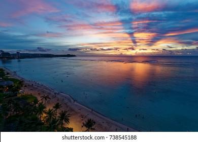 Tumon beach nightscape, Guam