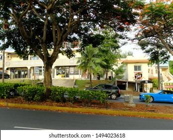 tumon and tamuning,guam usa  06 15 2018: street images of guam
