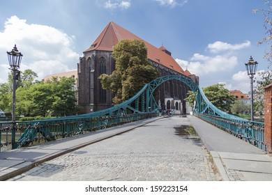 Tumski bridge. Wroclaw. Poland