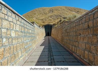 Tumulus of Midas or Tomb of Midas, King of Phrygia, near the ancient city of Gordion at Yassıhuyuk village in the district of Polatlı southwest of Ankara, Turkey